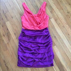 Express Bright Colorblock Dress Sz 10